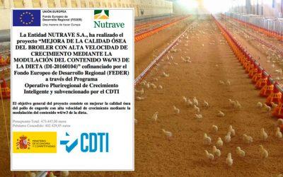 Nutrave realiza un proyecto para mejorar la calidad ósea del pollo