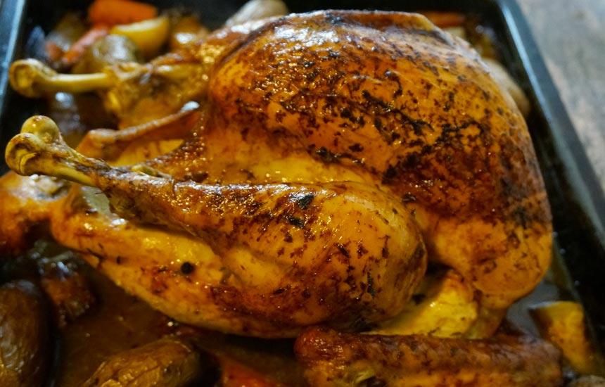 Pollo Nutrave relleno de chorizo