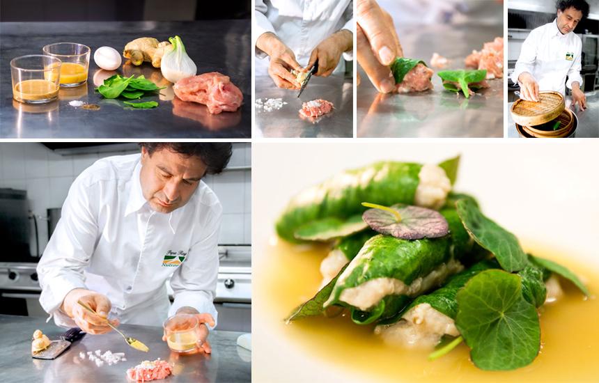 Rollitos de pollo y espinacas al vapor | Pepe Rodríguez