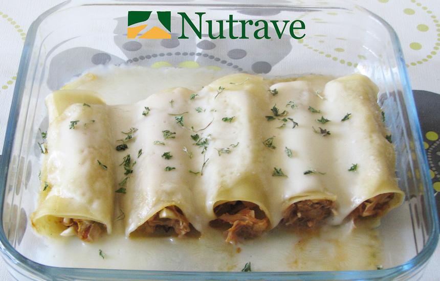 Canelones de pollo Nutrave y nueces