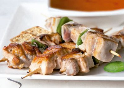 Chicken and Pepper Brochette