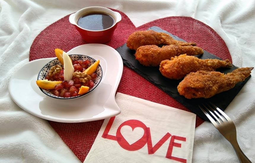 Alitas de pollo Nutrave para San Valentín