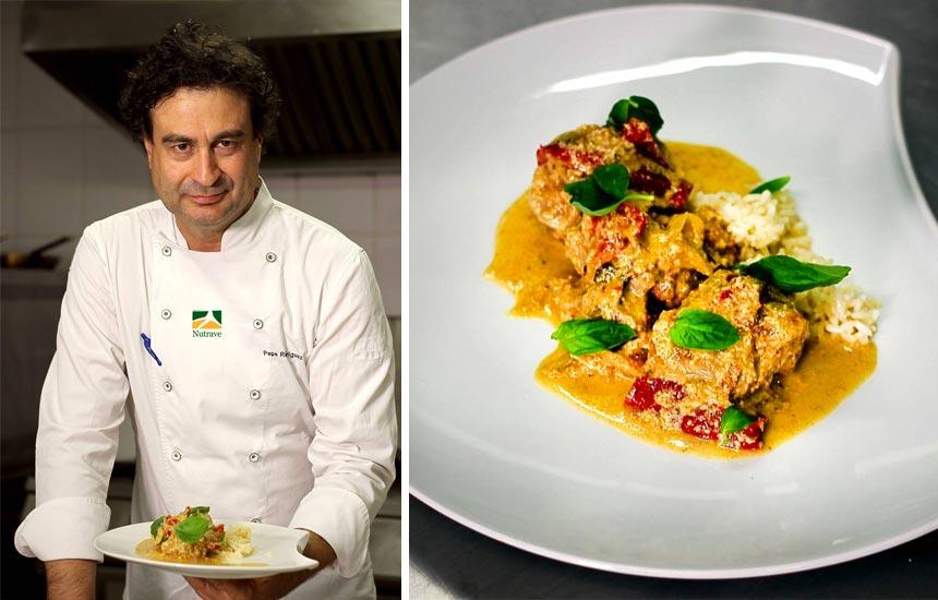 Pollo Nutrave al curry por Pepe Rodríguez
