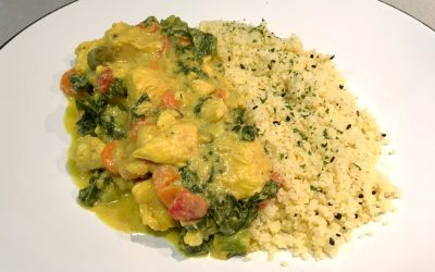 Chicken curry with couscous