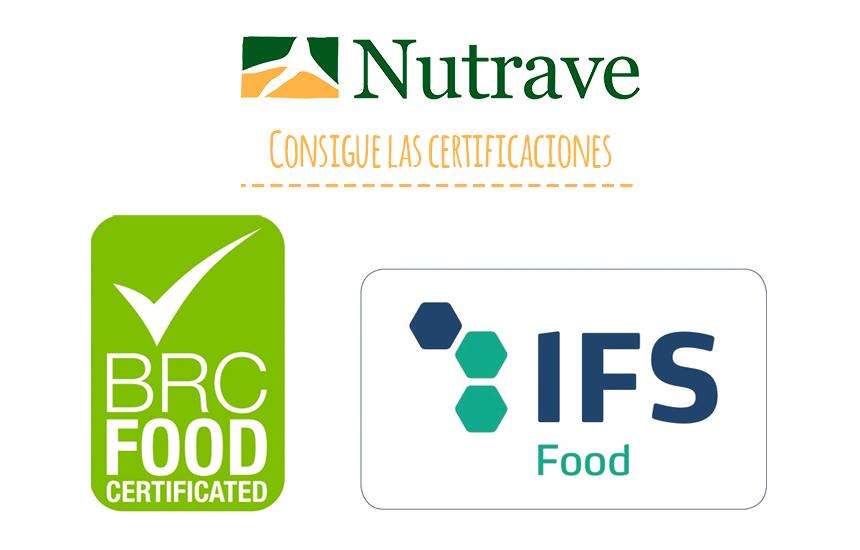 Nutrave consigue certificaciones BRC e IFS