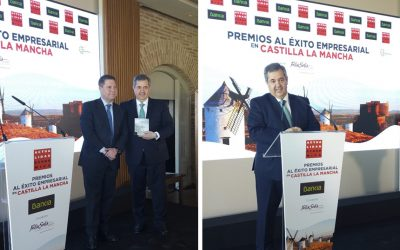 Mr. Humberto Carrasco, CEO of Nutrave, wins the award for the Best Business Career in Castile-La Mancha