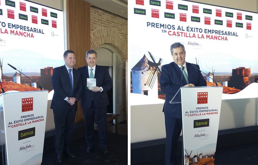 Humberto Carrasco (Nutrave) recibe el premio al éxito empresarial