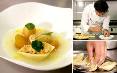 Sopa de pollo Nutrave con pasta rellena