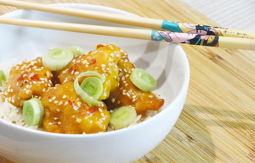 Pollo Nutrave a la naranja estilo oriental