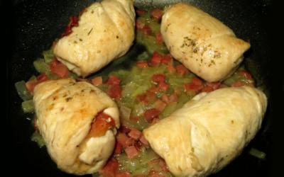 Rollitos de pollo Nutrave rellenos de jamón y queso