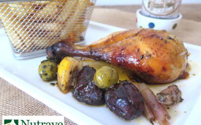 Pollo Imperial marinado y relleno con ciruelas