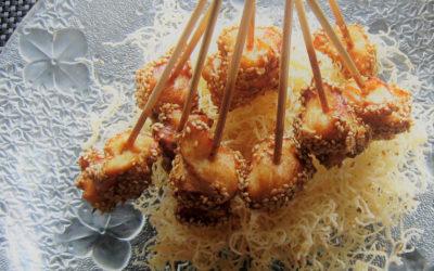 Aperitivos orientales de pollo Nutrave